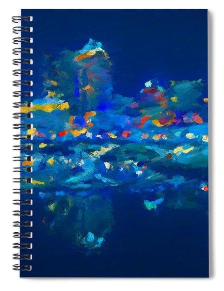 Abstract Columbus Skyline Spiral Notebook