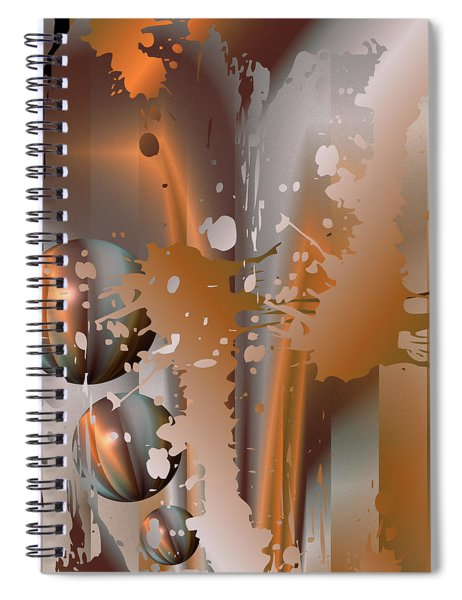 Abstract Copper Spiral Notebook