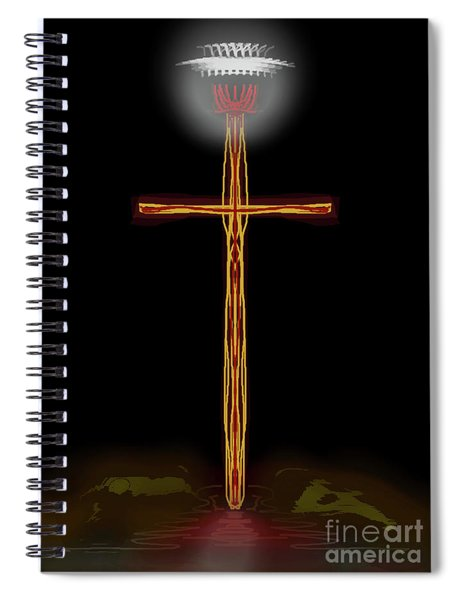 Abstract Cross With Halo Spiral Notebook