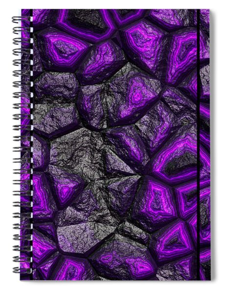Abstract Deep Purple Stone Triptych Spiral Notebook