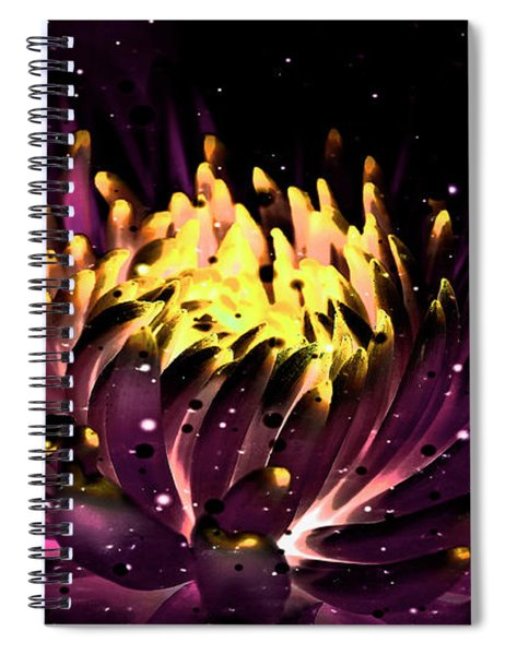Abstract Digital Dahlia Floral Cosmos 891 Spiral Notebook