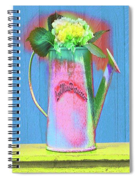 Abstract Floral Art 377 Spiral Notebook