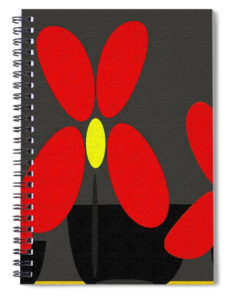 Abstract Floral Art 393 Spiral Notebook