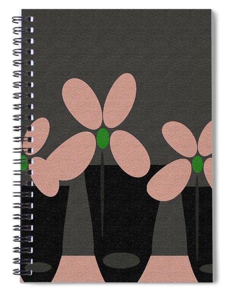 Abstract Floral Art 394 Spiral Notebook