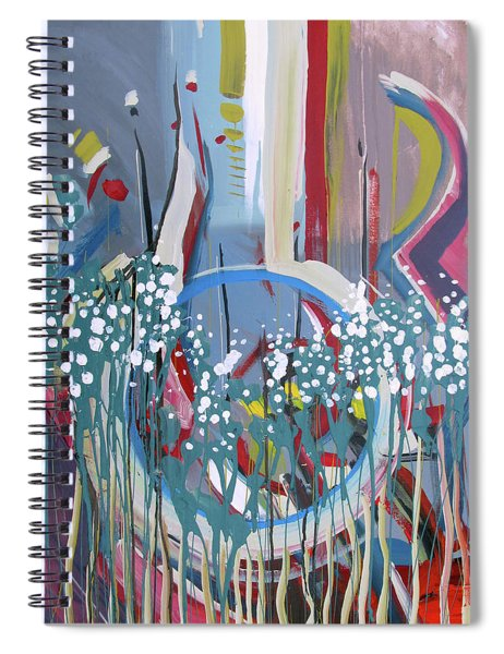 Abstract Floral Circle Spiral Notebook