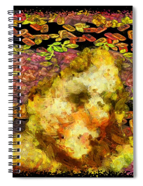 Spiral Notebook featuring the digital art Abstract Flower Girl by Mario Carini