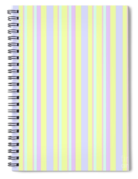 Abstract Fresh Color Lines Background - Dde595 Spiral Notebook