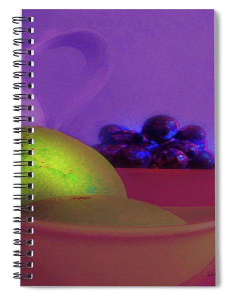 Abstract Fruit Art  109 Spiral Notebook