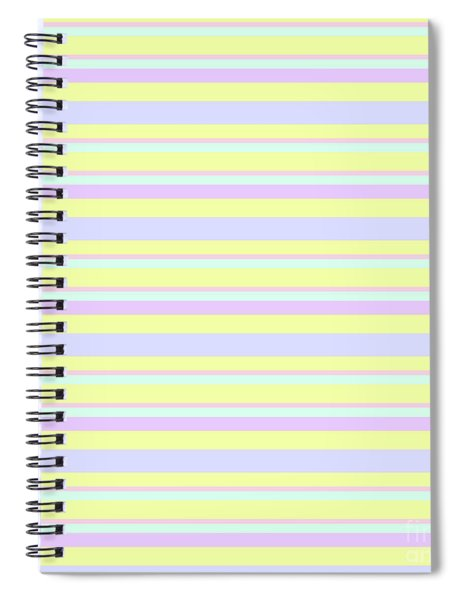 Abstract Horizontal Fresh Lines Background - Dde596 Spiral Notebook