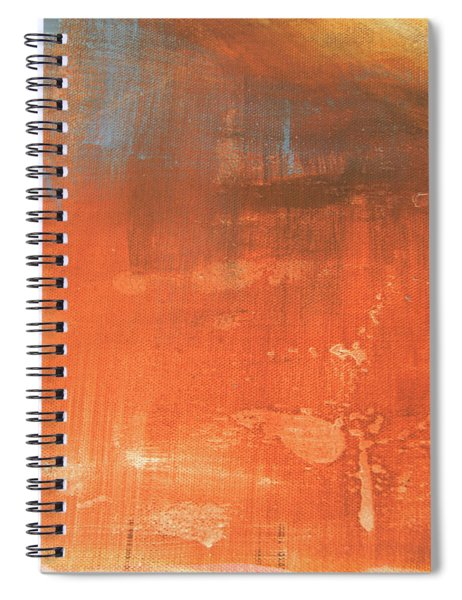 Abstract In Orange Spiral Notebook