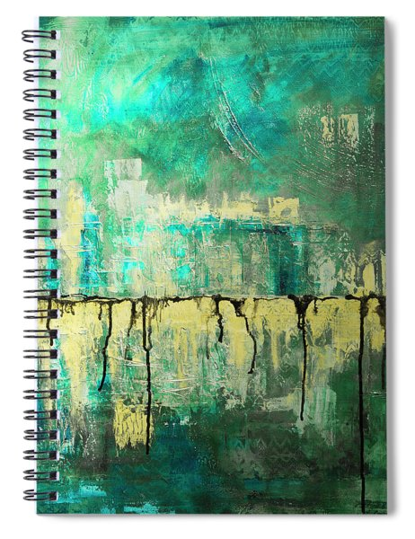 Abstract In Yellow And Green 2 Spiral Notebook