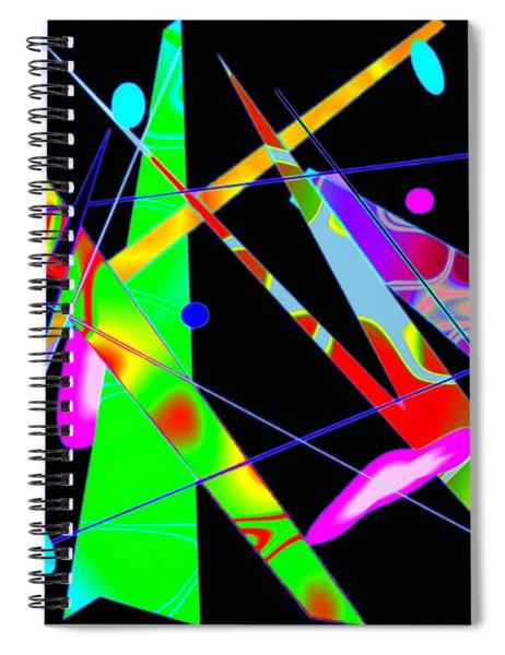 Abstract Kandinsky Spiral Notebook