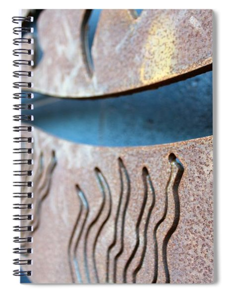 Abstract Lake Patricia Sign 1 Spiral Notebook