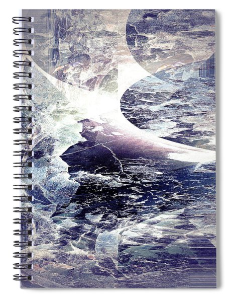 Abstract Ocean Enigma Spiral Notebook