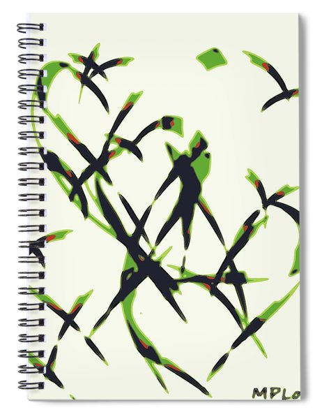 Abstract On Acrylic Spiral Notebook