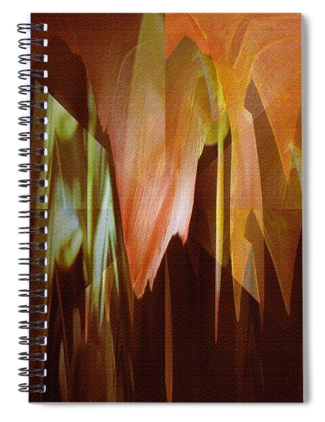 Abstract Orange Flower Spiral Notebook