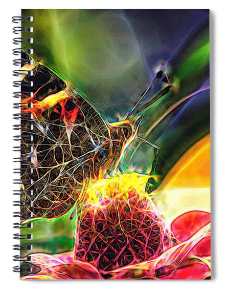 Abstract Painted Lady Butterfly Spiral Notebook