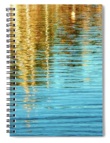 Abstract Reflections In Camden Harbor Maine Spiral Notebook