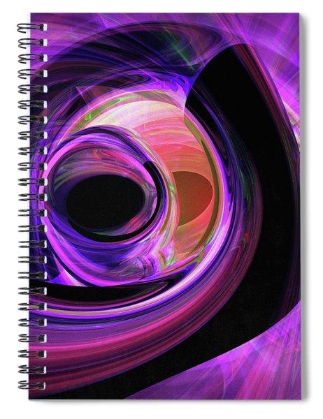 Abstract Rendered Artwork 3 Spiral Notebook