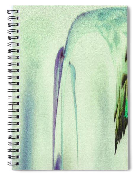 Abstract Soothing Green Spiral Notebook