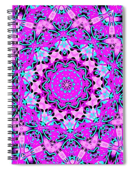 Abstract Spun Flower Spiral Notebook