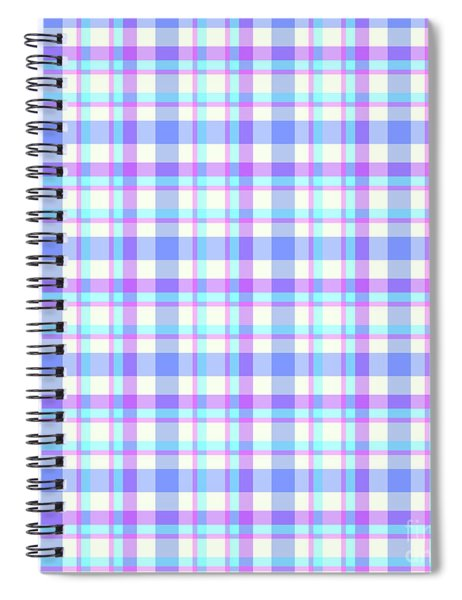 Abstract Squares Background - Dde598 Spiral Notebook