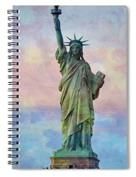 Abstract Sttue Of Liberty Painting V2 Spiral Notebook