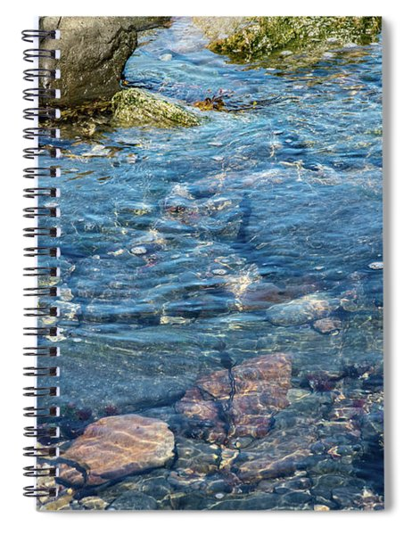 Abstract Water Spiral Notebook