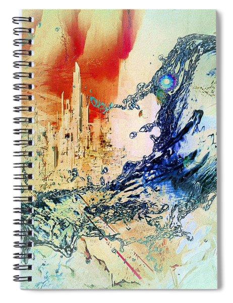 Abstract Water Splash Spiral Notebook