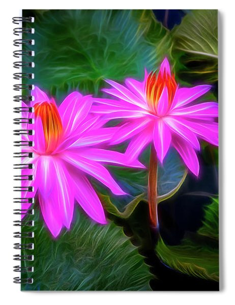 Abstracted Water Lilies Spiral Notebook