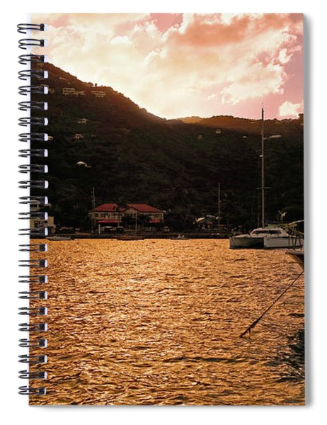 Abstractions Of Coral Bay Spiral Notebook