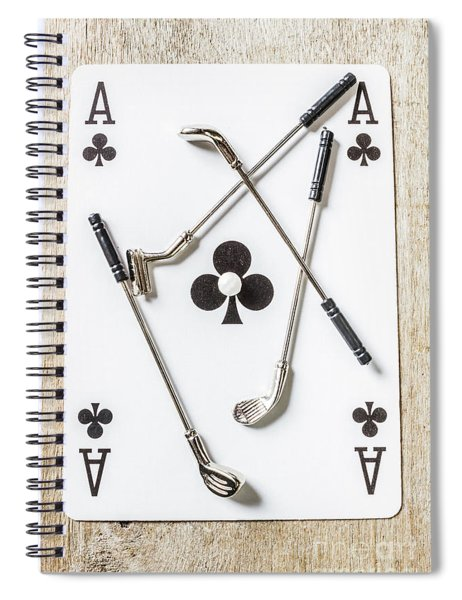 Ace Of Clubs Spiral Notebook