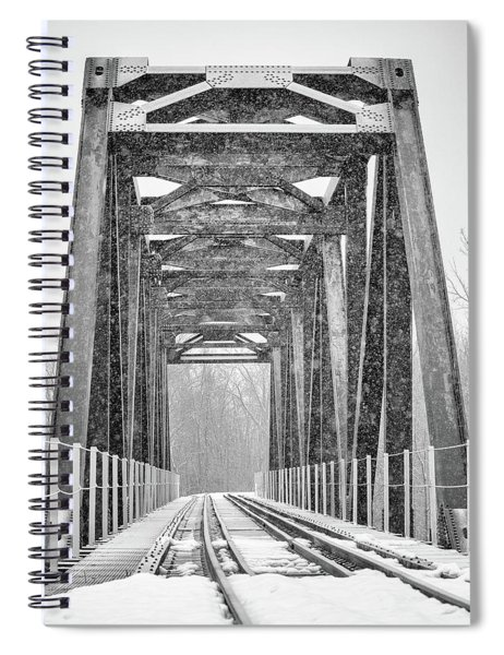 Spiral Notebook featuring the photograph Across The Bridge by Rod Best