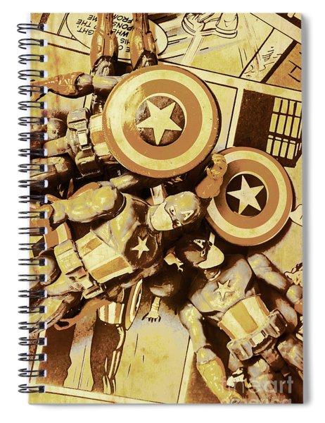 Action Figure Comic Strip Spiral Notebook