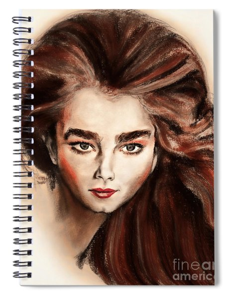 Actress And Model Brooke Shields Caricature Spiral Notebook