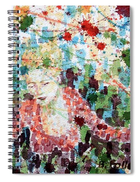 Actress At Curtain Call Spiral Notebook