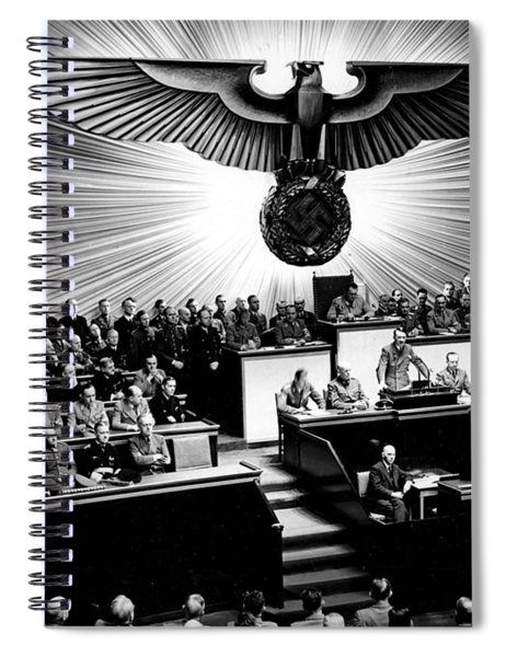Adolf Hitler Declaring War On America Dec  11th  1941 Berlin  Reichstagssitzung  Rede Adolf Hitler Spiral Notebook