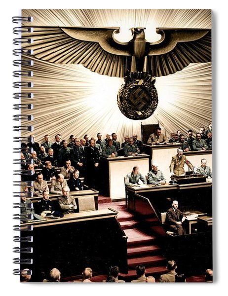 Adolf Hitler Declaring War On America  Dec  11th  1941 Spiral Notebook