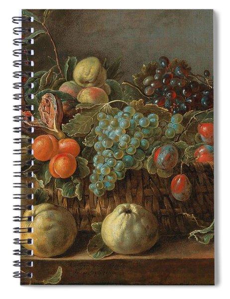 Adriaen Van Utrecht Antwerp 1599-1652 53 Still Life Of Fruit Spiral Notebook