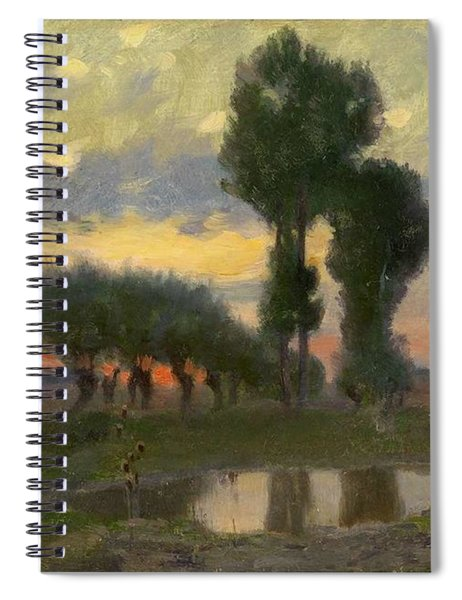 Adrian Stokes 1854-1935, Evening On The Plain Spiral Notebook