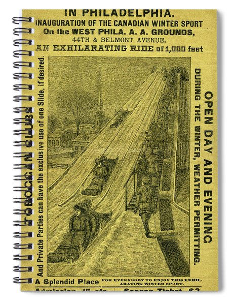 Advertisement For The First Toboggan Slide In Philadelphia Spiral Notebook