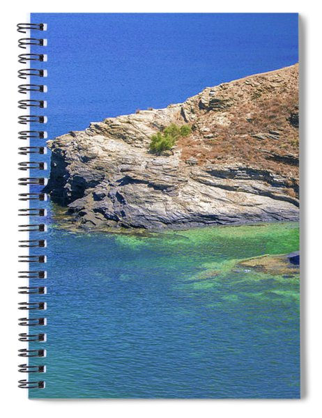 Aegean Coast In Bali Spiral Notebook