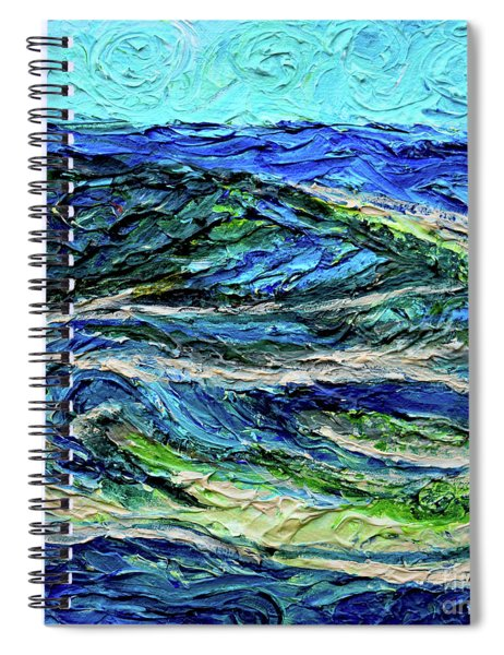 Aerial View Of Presque Isle Lake Erie Spiral Notebook