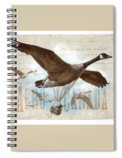 Aero Canada Spiral Notebook