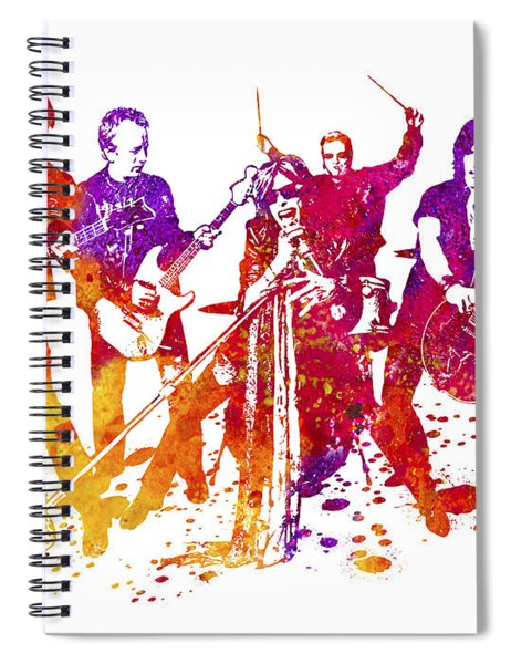 Aerosmith Band Watercolor Splatter 01 Spiral Notebook