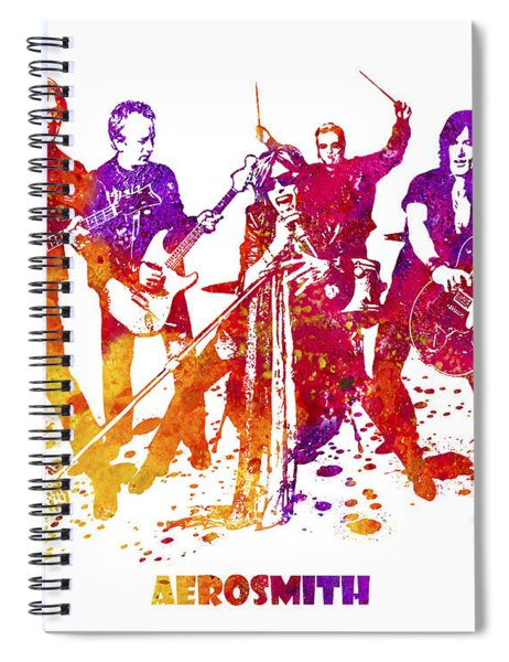 Aerosmith Band Watercolor Splatter 03 Spiral Notebook