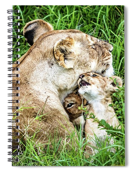Motherly Lion Love Spiral Notebook