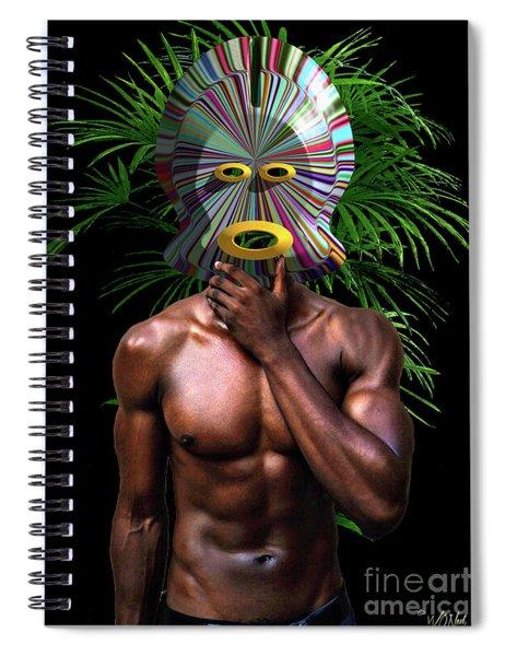 African Masked Man Spiral Notebook
