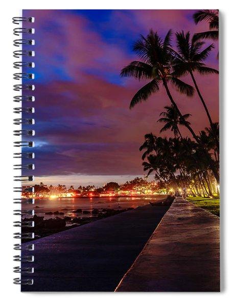 After Sunset At Kona Inn Spiral Notebook