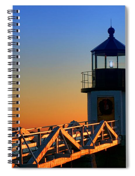 After Sunset At Marshall Point Lighthouse  Spiral Notebook
